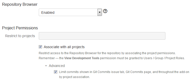 Advanced setup - Git Viewer and Project Permissions