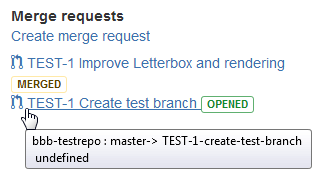 Dev panel merge/pull request hover info