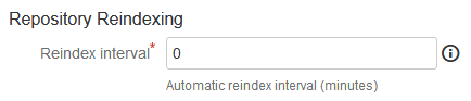 General setting Reindex Interval