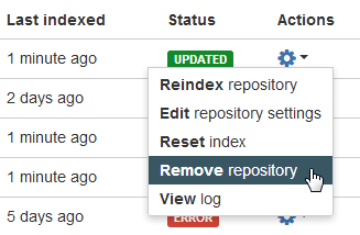 Git config delete repository