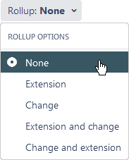 Git Roll Up - RollUp options