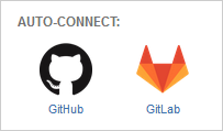 Auto-connect integration panel click GitLab