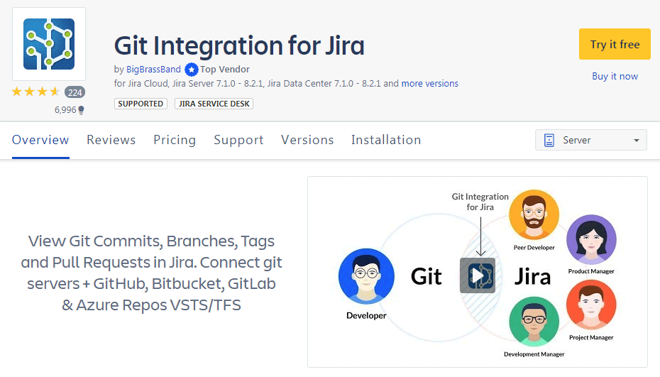 Buy Git Integration for Jira add-on