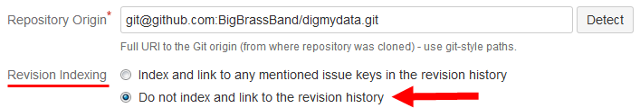Repository setting Repository Revision