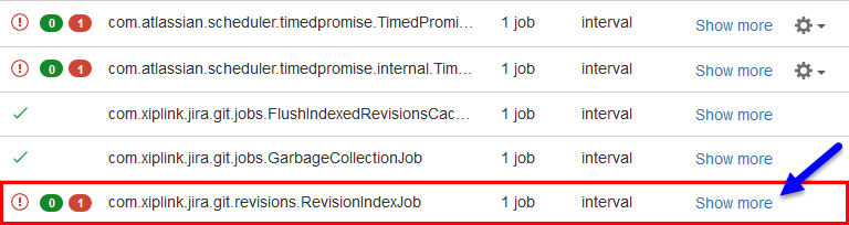Scroll to RevisionIndexJob last run time
