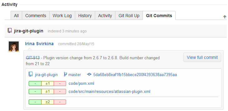 Example Git commit message